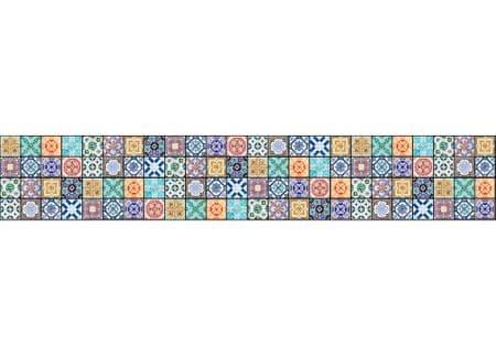Dimex Fototapeta do kuchyne KI-350-079 Farebné dlaždice 60 x 350 cm