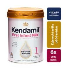 Kendamil 6x dojčenské mléko 1 (900g)