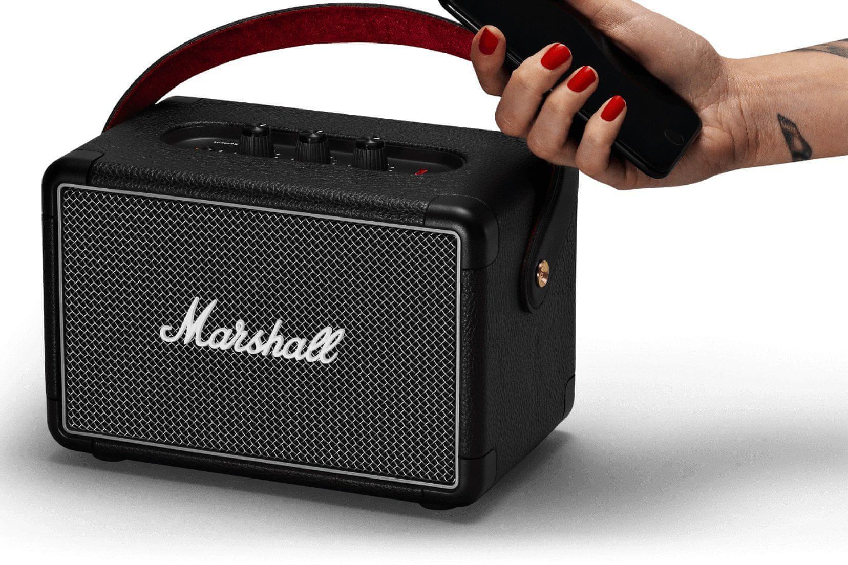 Bluetooth reproduktor Marshall Kilburn II mulithost spárování 2 zařízení najednou