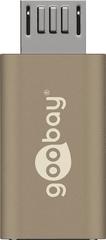 Goobay adapter Hi-Speed USB-C>USB 2.0 micro B, zlat