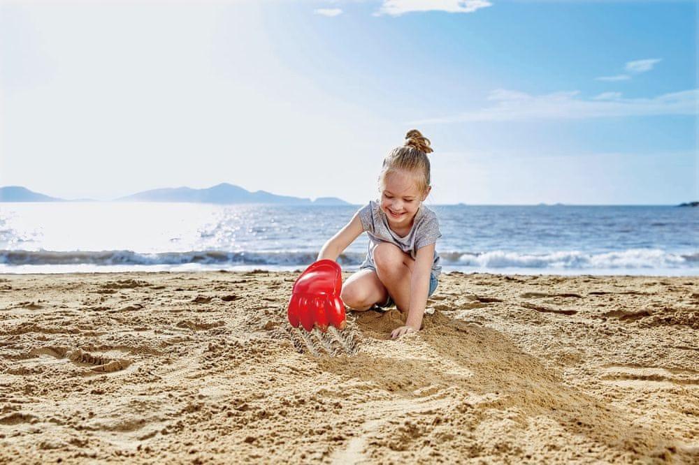 Hape Hračky na písek Velká tlapa červená