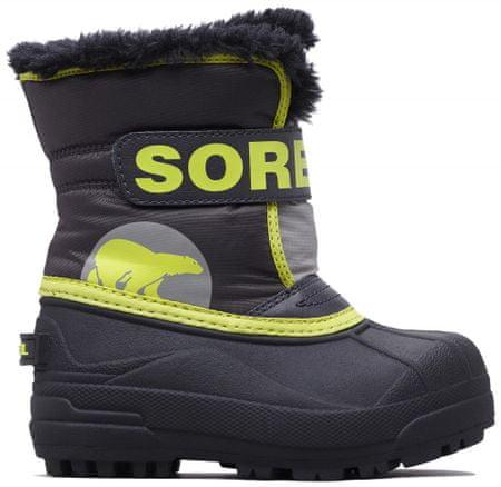 Sorel fantovski škornji SNOW COMMANDER, 22, sivo rumeni