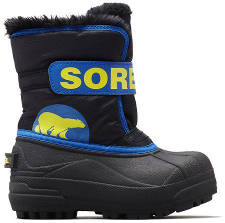 Sorel chłopięce śniegowce SNOW COMMANDER, 26, czarne/niebieskie