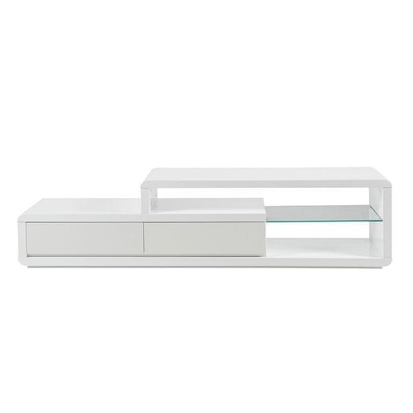Design Scandinavia TV stolek s LED diodami Abbey bílá