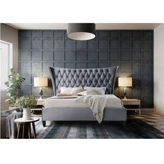 Manželská posteľ, sivá/wenge, 160x200, ALESIA