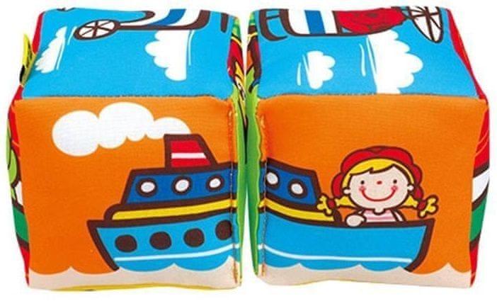 K´s Kids Zábavné textilní kostky - Autíčka