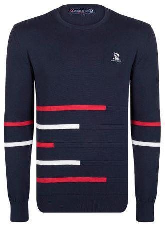 Giorgio Di Mare moški pulover, S, temno moder