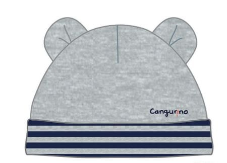 Cangurino chlapecká čepice 36 sivá