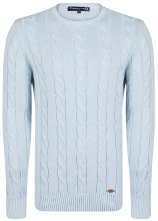 Giorgio Di Mare moški pulover, S, svetlo moder