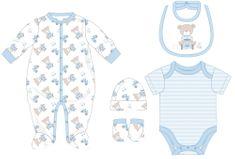 Cangurino chlapecký kojenecký set