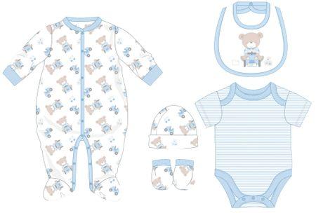 Cangurino komplet za dojenčad, plavi, 50
