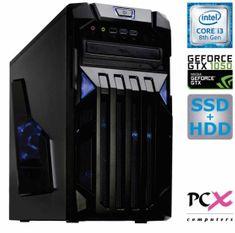 PCX namizni računalnik Exam Gaming 1.3 i3-8100/8GB/SSD120GB+1TB/GTX1050/FreeDOS