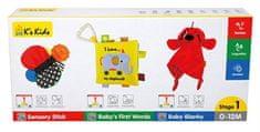 K´s Kids zestaw 3 zabawek rozwojowych - stopień 1