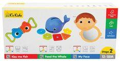 K´s Kids zestaw 3 zabawek rozwojowych - stopień 2