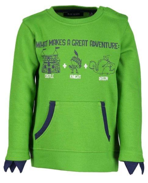 5b58b9560a4 Blue Seven chlapecká mikina 86 zelená