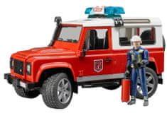 BRUDER 2596 Land Rover tűzoltóság figurával