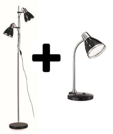 Ideal Lux talna svetilka Elvis črna + namizna svetilka