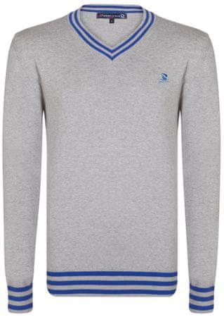 Giorgio Di Mare moški pulover, S, siv