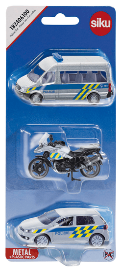 SIKU set 3 policijskih avtomobilov