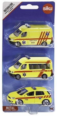 SIKU 3 samochody służb ratowniczych