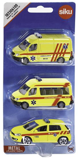 SIKU 3 delni komplet rešilnih vozil