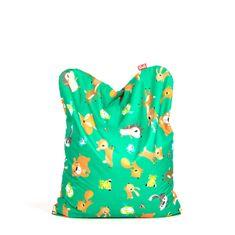 TULI Sedací vak Funny polyester vzor lesné zvieratká