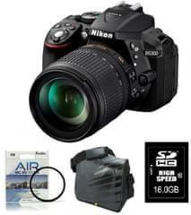 Nikon digitalni fotoaparat D5300 + 18-105VR + Fatbox + UV AIR filter