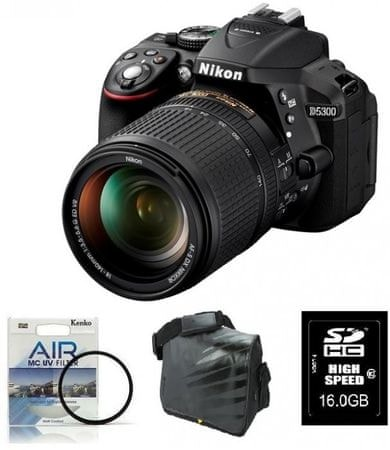 Nikon digitalni fotoaparat D5300 + 18-140VR + Fatbox + UV AIR filter