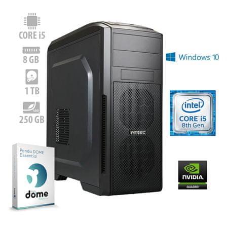 mimovrste=) namizni računalnik Workstation2 i5-8600/8GB/SSD250GB+1TB/Quadro/W10P