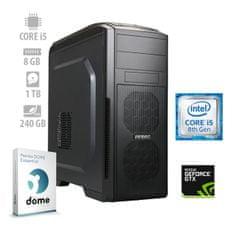 mimovrste=) namizni računalnik GameOn i5-8400/8GB/SSD240GB+1TB/GTX1050Ti/FreeDOS (ATPII-PF7G-7733)