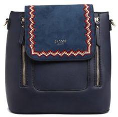 Bessie London Janelle női sötétkék hátizsák