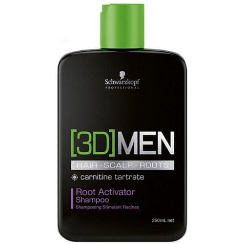 Schwarzkopf Prof. Aktivační šampon pro muže 3D (Root Activator Shampoo) (Objem 1000 ml)