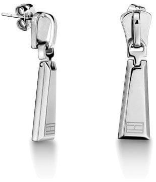Tommy Hilfiger Oceľové náušnice v tvare zipsu TH2700724