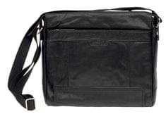 Lagen Kožená crossbody taška Black 20653