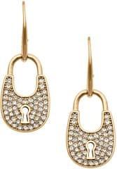 Michael Kors Zlaté náušnice zámečky s krystaly MKJ4889710