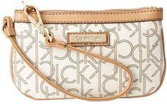Calvin Klein Bílá kabelka Monogram Wristlet