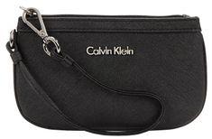 Calvin Klein Černá kabelka Saffiano Wristlet