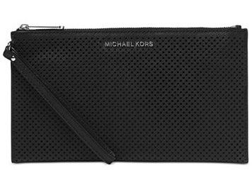Michael Kors Kabelka Jet Set Travel Large Zip Clutch Black