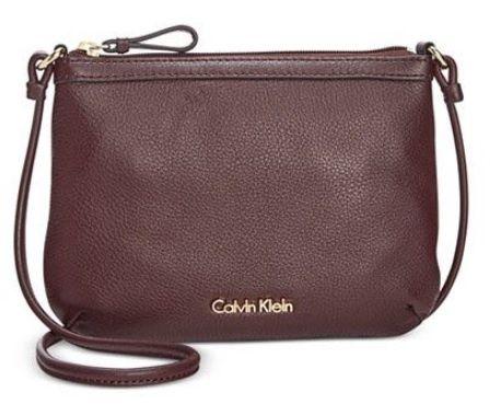 Calvin Klein Crossbody kabelka Pebble Leather Crossbody Purple