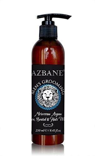 Azbane Arganový přípravek pro mytí vousů vlasů a obličeje 250 ml