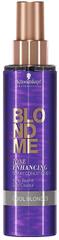 Schwarzkopf Prof. Bezoplachový kondicionér pro zvýraznění chladných blonďatých odstínů BLONDME (Tone Enhancing Spray C