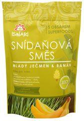 Iswari BIO Snídaňová směs Mladý ječmen, banán, naklíčená pohanka