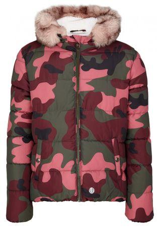 s.Oliver Dívčí prošívaná zimní bunda maskáč M růžová zelená  4c02a4ab3d