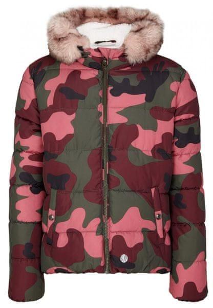 s.Oliver Dívčí prošívaná zimní bunda maskáč L růžová zelená ddb1661711
