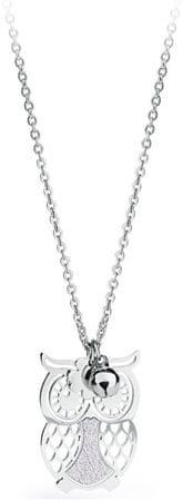 S'Agapõ Gaia bagoly ezüst nyaklánc SGA04