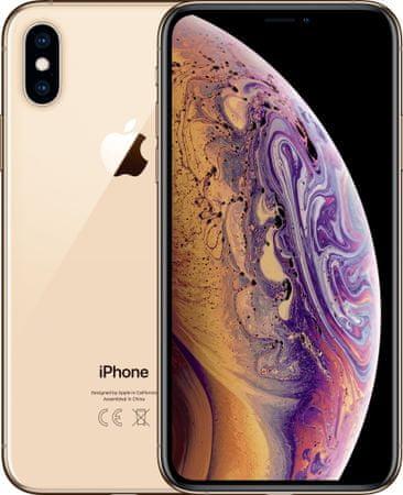 Apple iPhone Xs, 64GB, Zlatý