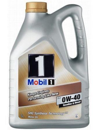 Mobil motorno olje 1 New Life 0W-40, 5 l