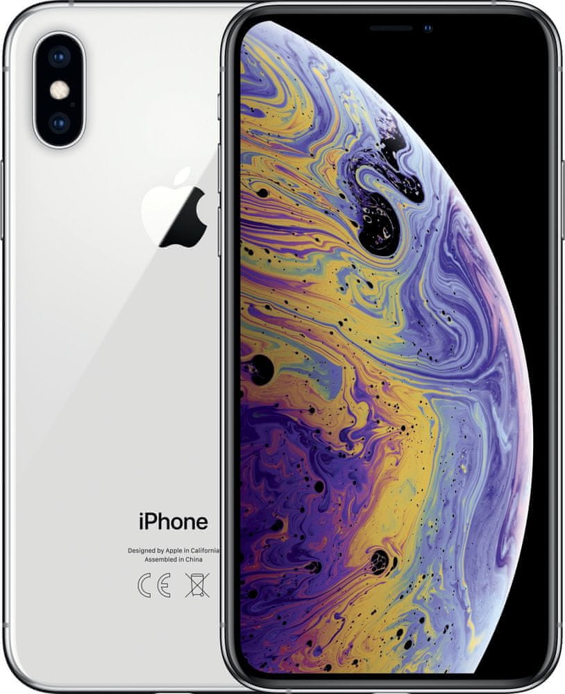 Apple iPhone Xs, 512GB, Stříbrný