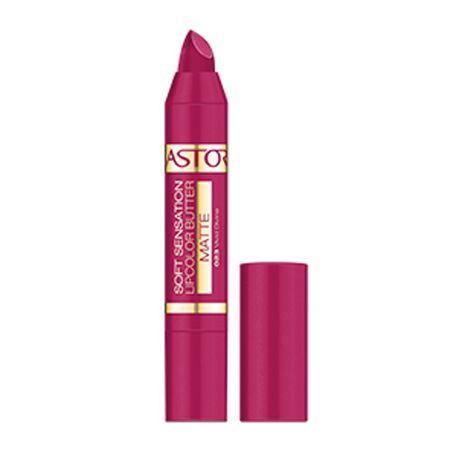 Astor Matowe Masło wargi Masło miękkie Sensation matowy Lipcolor 4,8 g (cień 027 Elegant Nude)
