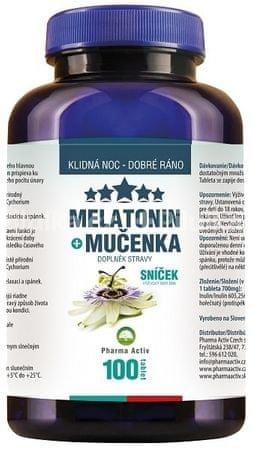 Pharma Activ Melatonin Mučenka 80 tbl. + 20 tbl. ZDARMA